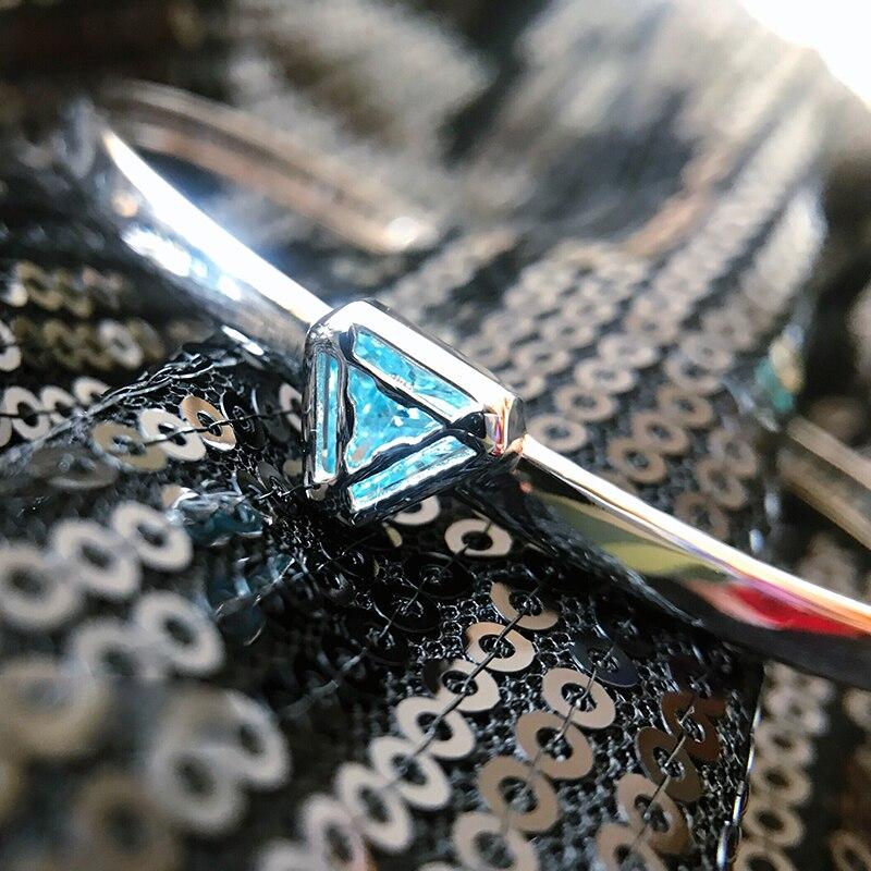 The Avengers Iron Man Arc Reactor Bracelet Resizable Bangles Marvel Iron Man Bracelet Tony Stark 925