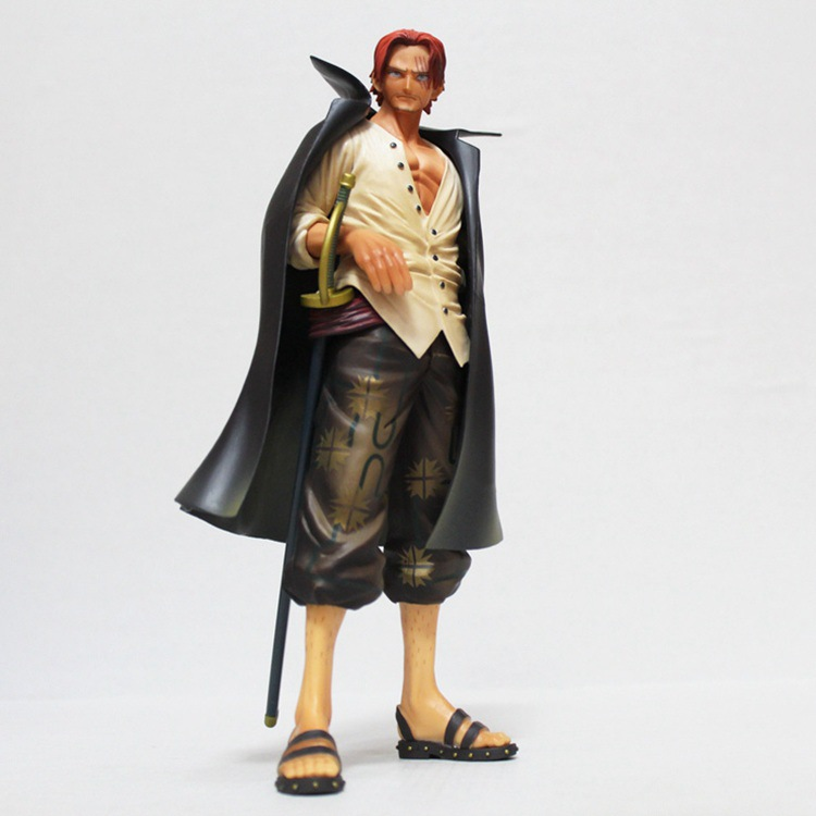 One Piece Shanks Action Figure Toy Red Hari PVC Collectable Modle Doll Toys 25cm b585 world of warcraft wow pvc action figure display toy doll dwarven king magni bronzebeard