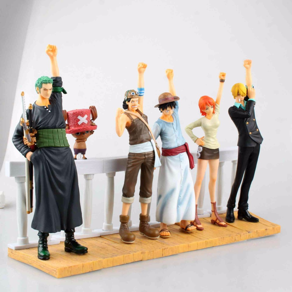 6 Pcs/Set One Piece The Desert Princess and The Pirates Figures Dramatic Zoro Luffy Usopp Nami Chopper Dolls Action Figure Toy