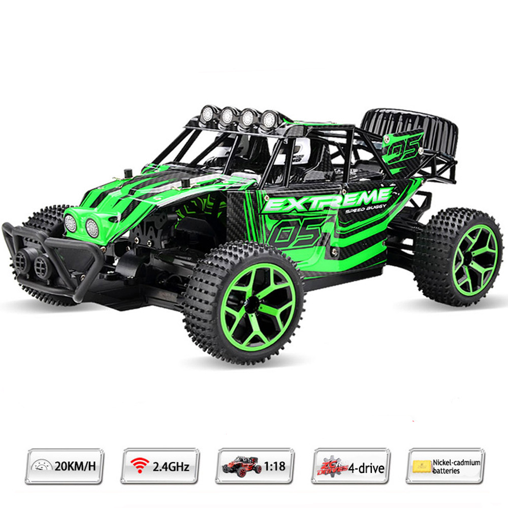ФОТО 1:18 Highspeed Remote Control Car 20KM/H Speed RC Drift Car radio controlled machine 2.4G 4wd off-road buggy with Lipo battery