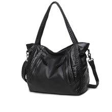 High Quality Soft PU Material Top-handle Bag Winter Bag Large Shoulder Bag Waterproof  Women Bag