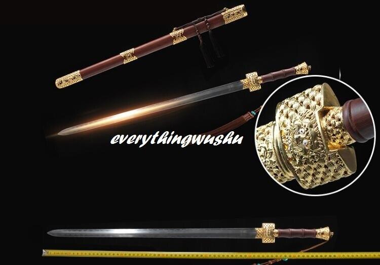 Collectible Chinese Traditionele Jian Wushu Zwaarden Lange Quan Zwaarden