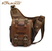 KAUKKO brand retro vintage canvas bag men messenger man cross body bags free shipping