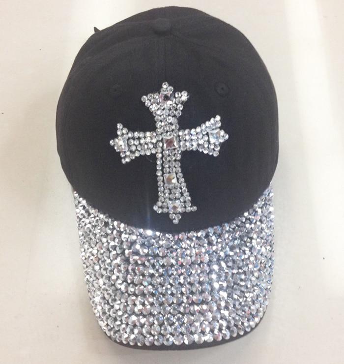 Prix pour 2014 new Retail 5 couleurs Noir 100% Coton d'été femmes casquette de baseball strass unisexe automne Casual hommes Chapeaux