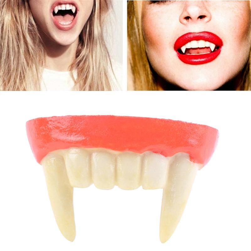 Costumes & Accessories Novelty & Special Use Scary Bloody Fake Zombie Vampire Teeth Tricky Toys Cosplay Props Party Dress Up Decoration Halloween Christmas Easy To Repair