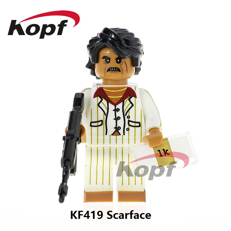 Single Sale Super Heroes Scarface Joker Annabelle Human Torch Sandman Bricks Set Model Building Blocks Children Toys Gift KF419 building blocks super heroes back to the future doc brown and marty mcfly with skateboard wolverine toys for children gift kf197