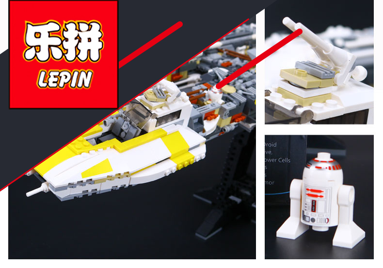 Lepin 05040 1550pcs Y-wing Attack Starfighter Building Block Assembled brick A Funny Toys Compatible with 1013 lepin 05040 y attack starfighter wing building block assembled brick star series war toys compatible with 10134 educational gift