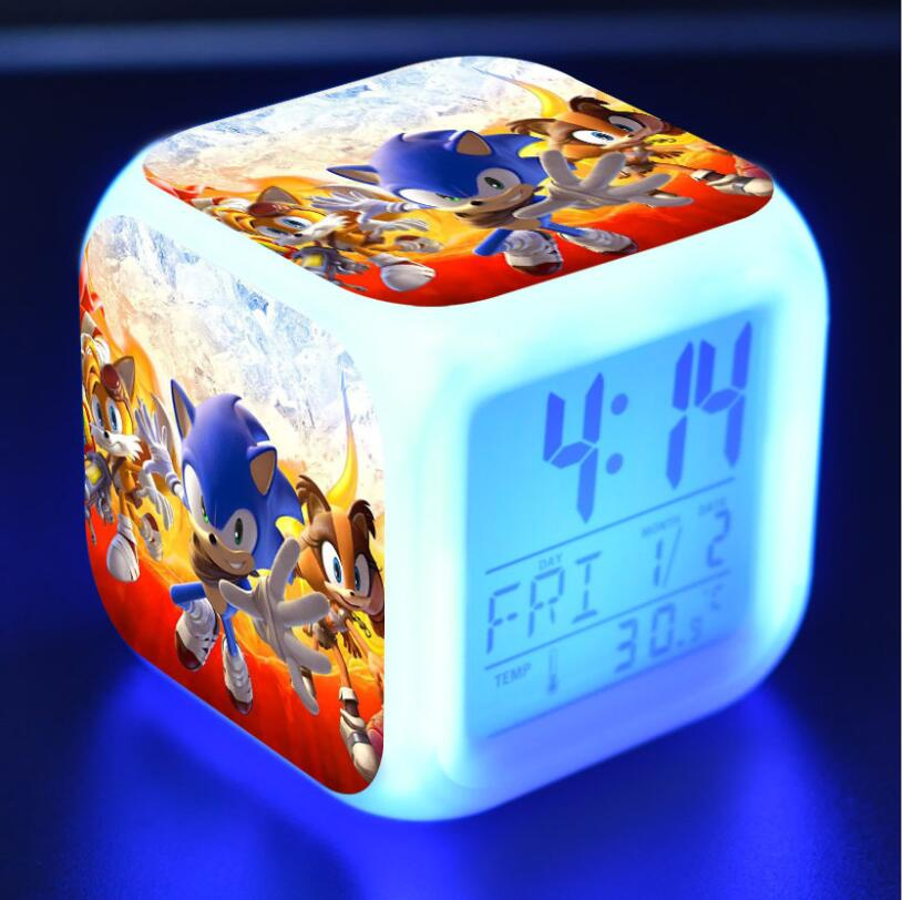 Sonic The Hedgehog LED Cube Alarm Clock 10