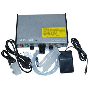 цена на 220V AD-982 Semi-Auto Glue Dispenser PCB Solder Paste Liquid Controller Dropper Fluid Dispense