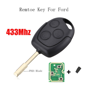 3BT 433Mhz Transponder Chip 4D63 Chip Or 4D60 Chip Remote key For FORD Focus Fiesta Mondeo C MAX Fusion Transit KA FO21 Blade