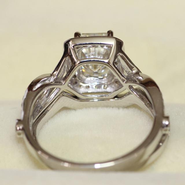 14K 585 White Gold1.2CT Radiant Cut Lab Grown Wedding Engagement Ring