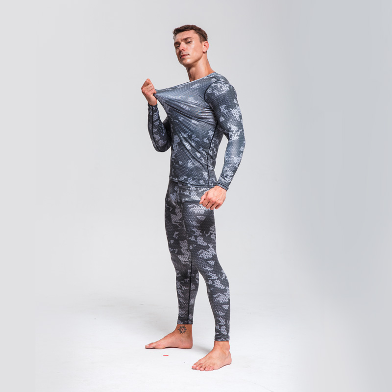Cycling Base Layer Men Suit  Bicycle Underwear Men Running Clothes  Quick drying Wicking Sportswear   Camouflage Tracksuit Men|Cycling Base Layers| |  - title=