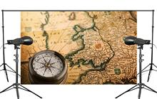 Exquisite Handmade Yellow Paper With Detailed World Map with Compass Background Retro Photography Wall Painting