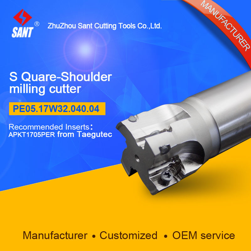 Customized size Square Should Milling Cutter Kr 90 PE05.17W32.040.04, with APKT1705PER insertCustomized size Square Should Milling Cutter Kr 90 PE05.17W32.040.04, with APKT1705PER insert