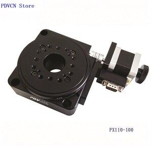 Image 1 - Étape rotative électrique PDV PX110 100, étape de Rotation motorisée, plate forme rotative électrique, bureau rotatif de précision