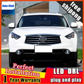 Car-styling LED fog light for Infiniti Q70L 2013 LED Fog lamp lens and LED daytime running ligh for car 2 function