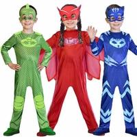 Boys Girls PJ Masks Hero Cosplay Costume For Kids Prty Dress Children Costume Christmas New Year