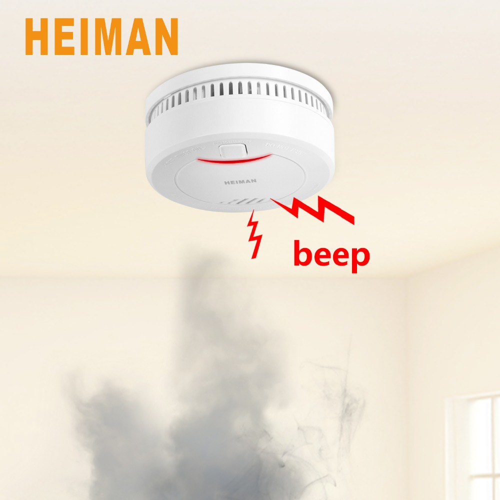 10 Years Lithium Battery Powered Smoke Detector,Auto-Checking Fire Alarm With Low Battery Warning-626PHS