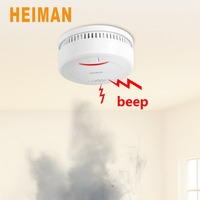 10 years Lithium battery Powered Smoke Detector,Auto Checking Fire Alarm with Low battery Warning 626PHS