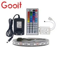 LED Strip Light 5050 RGB 5M 300 LED Non-Waterproof Flexible Strip Light Set + 44Keys Remote Controller + 12V 3A Power Adapter