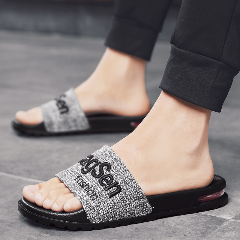 ROMMEDAL Slippers Summer Men Casual Shoes Comfortable Sandals Slippers Non-Slip Bathroom Home 2019 Brand  Slides Flats Tenis