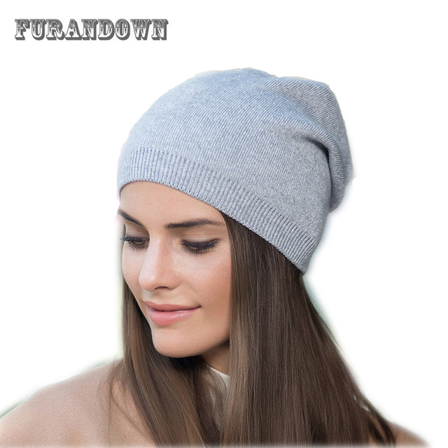 New Fashion Winter Hat Women Autumn Hat Wool Skullies Beanies Solid Color  Warm Hat Knitted Cap Autumn Hats For Ladies 822496d4f1a