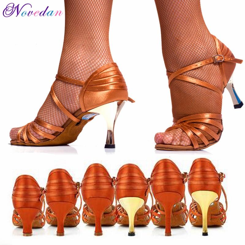 Women's Tango/Ballroom/Latin Dance Dancing Shoes High Heel Salsa Professional Dancing Shoes For Girls Ladies 5 Cm/6 Cm/7 Cm/8 Cm