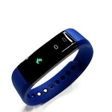 Новейшие ID115 HR Смарт Браслет Монитор Сердечного ритма Фитнес-Браслет спорт умный браслет для ios android рк xiaomi группа 2 Fitbit