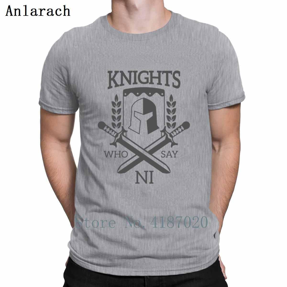 Рыцари Монти Пайтон, кто говорит Ni футболка печати летний отдых футболка для Для мужчин новый мужской Размеры S-3xl милые