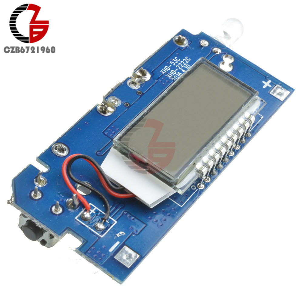 5V 18650 Dual USB 1A 2.1A 18650 Battery Charger Board Mobile Power Bank Charging Module PCB LCD Display for Arduino DIY