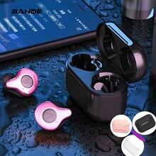 IPX7 À Prova D Água Mini Bluetooth Sem Fio fone de Ouvido de Redução de Ruído Fones de Ouvido Sem Fio Com Função de Carregamento Sem Fio