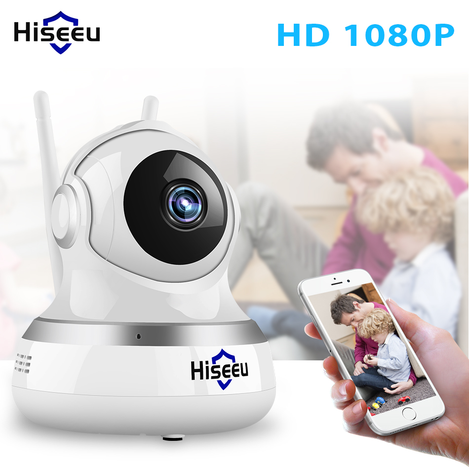 купить Hiseeu HD Wifi Wireless Home Security IP Camera 1080P Security Network CCTV Surveillance Camera IR Night Vision Baby Monitor