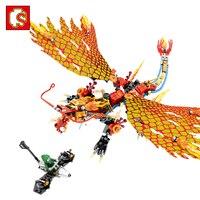 בלוקים Sembo פעולה דמויות צעצועי אבן בניין הלגו תואם Ninjagoe אביר דרקון החינוכי להאיר בריק צעצוע לילדים