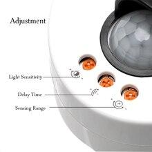 iTimo E27 Socket Lamp Bases with PIR Motion Sensor Light Sensor Lamp Holder Switch Detector LED Light Bulb Base E27 Lamp Holder