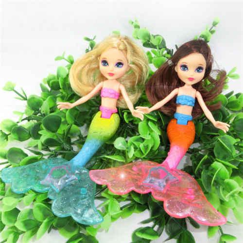 Popular à prova dpopular água led luz de natação sereia boneca criança meninas brinquedo banho piscina moda bonecas cauda vestido brinquedo menina crianças presentes