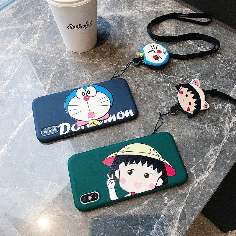 NEW Cute 3D Doraemon Chi bi Maruko Big head Soft TPU Case For iPhone XS XR