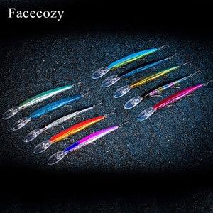 Image 2 - Facecozy bionic reflection 낚시 미노우 모양 인공 루어 브릴리언트 컬러 swimbait 낚시 하드 미끼 플로팅 크랭크