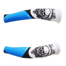 Bike Bicycle Arm Cover Skull Print Cuff Cycling Sleeve UV Sun Protection