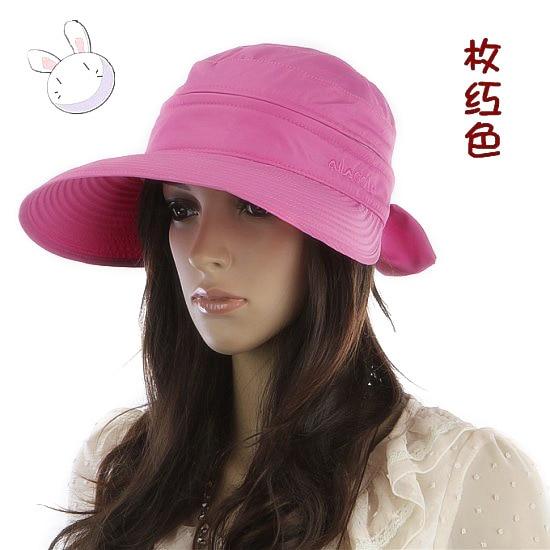 Summer Fashion Korean Style Bowknot Big Visor Cap Color Matching Beach Sun Hat