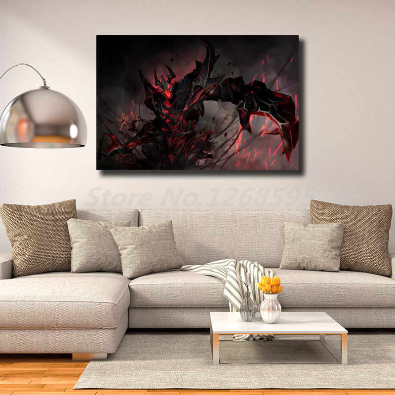 Dota 2 Shadow Fiend Wallpaper Hd Wall Art Canvas Poster And Print Canvas Painting Decorative Picture For Living Room Home Decor Painting Calligraphy Aliexpress