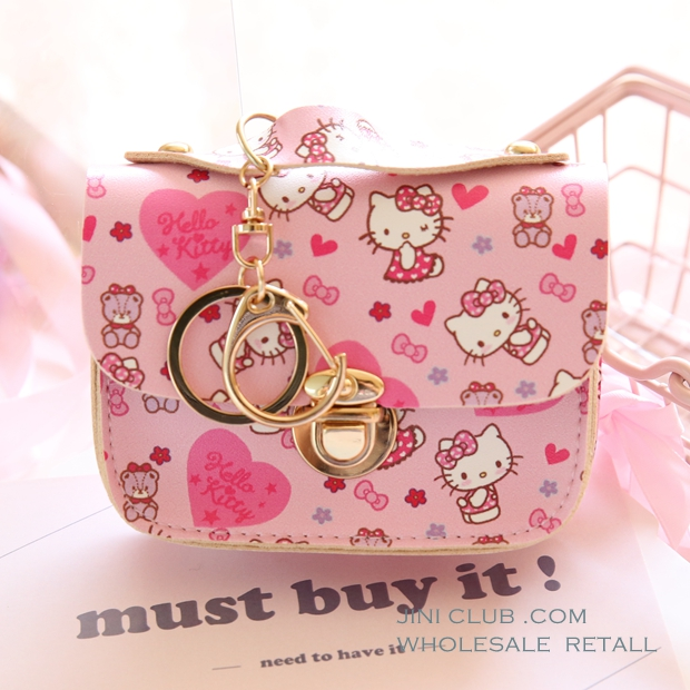 Cartoon Cute Duffy Bear Stellalou Hello Kitty My Melody Cinnamoroll Pudding Dog Little Twin Stars Tsum Coin Purse Key Card Bag in Coin Purses from Luggage Bags