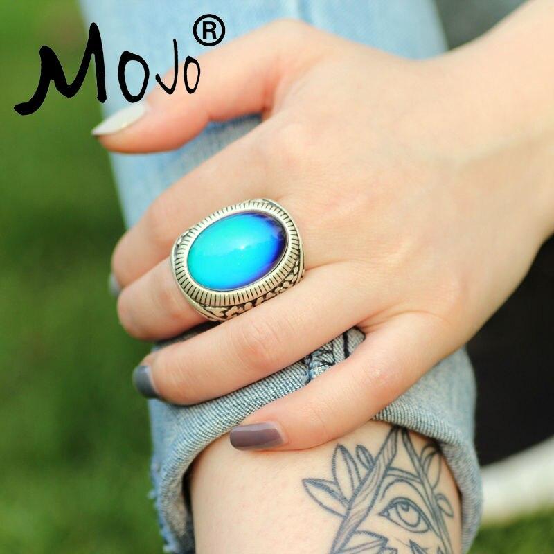 посеребренные металлические марочные шарнирные кольца полосы палец цвет большой камень кольцо подарка ювелирных изделий кольца для женщи…