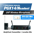 FreeShipping! PGX PGX14 WH30 WL93 UHF Professional Karaoke Wireless Microphone System with Condenser Skin Headset Mic 800-820Mhz
