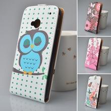 Горячей продажи кожаный чехол флип чехол для HTC One M7 телефон Сумки Бесплатная доставка красочные печатные Бесплатная доставка