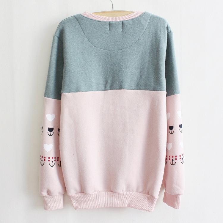 Sweatshirt Casual Hoodies Pullovers Patchwork Fashion Sale Warm Fleece Cute  Sheep Printed Sweatshirt Hoodie Women Hoody New 2014-in Hoodies    Sweatshirts ... c21c3d3d8c