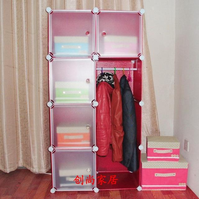 combinaison armoire bricolage simple pliage unique v tements armoire meuble de rangement en. Black Bedroom Furniture Sets. Home Design Ideas