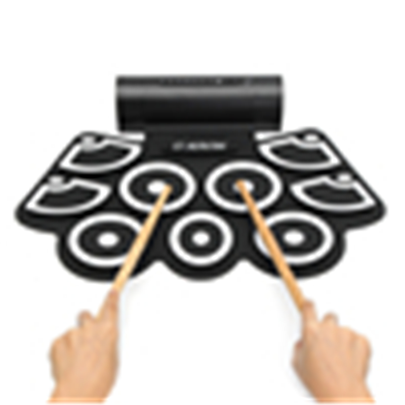 9 Key Electronic USB Roll-Up Drum Kit Built-in Speakers Pedals Drumsticks USB Drum Professional Portable USB Drum Kit cheerlink md 1008 usb portable multifunctional professional midi electronic drum multicolored