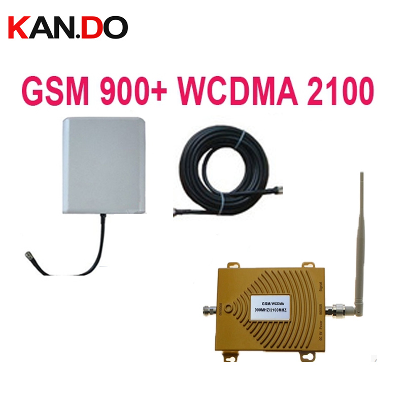 Dual Band Repeater GSM 900Mhz Booster+3G WCDMA Repeater Dual Band 3G Booster Kits W/ Cable &antennas,dual Band GSM Booster