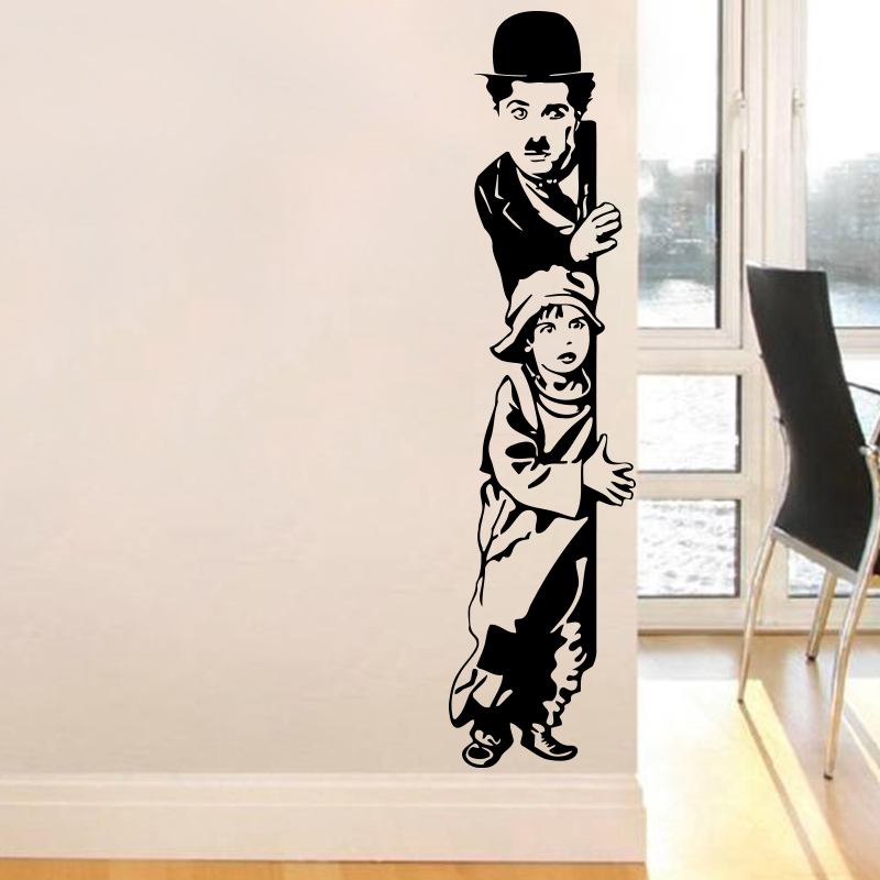 Art Decor chaplin desenele de perete copilul Vinyl Movie stea perete decal casa decorație pentru camera de zi cameră copii living gratuit de transport maritim