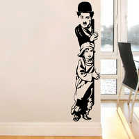 Art Decor chaplin the kid wall stickers Vinyl Movie star wall decal house decoration for liveing room kids room free shipping
